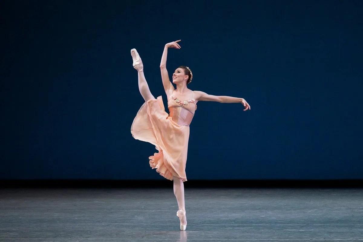 Tiler Peck in George Balanchines Tchaikovsky Pas de Deux photo by Paul Kolnik