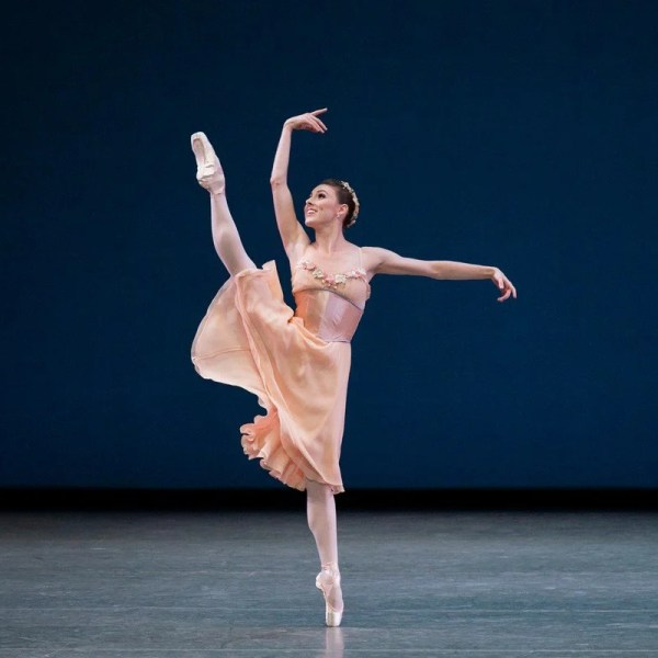 Tiler Peck in George Balanchines Tchaikovsky Pas de Deux photo by Paul Kolnik