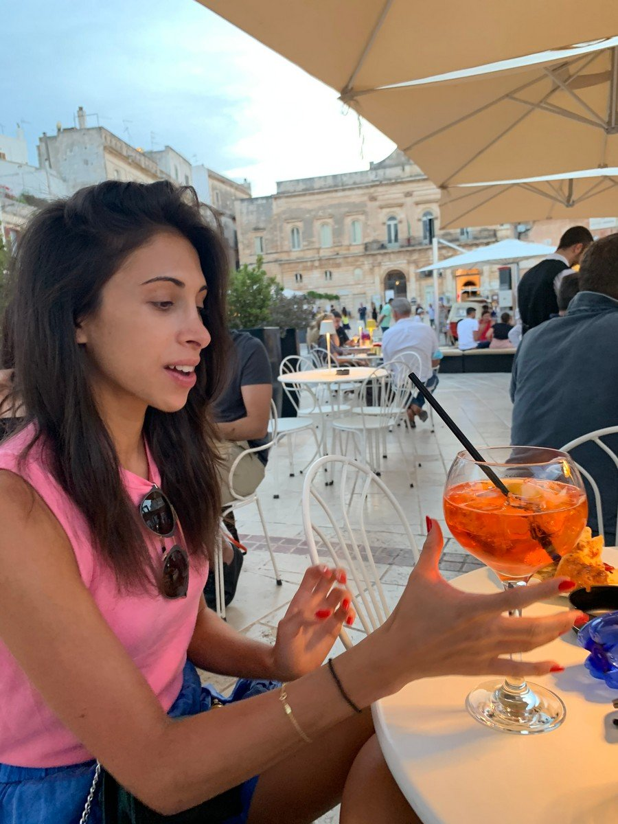 In Puglia, with an aperol spritz