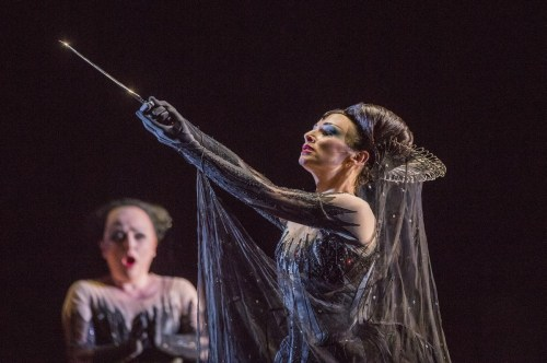 Rebecca Evans as First Lady, and Sabine Devieilhe as Queen of the Night in The Magic Flute, The Royal Opera. © 2017, ROH. Photographed by Tristram Kenton.