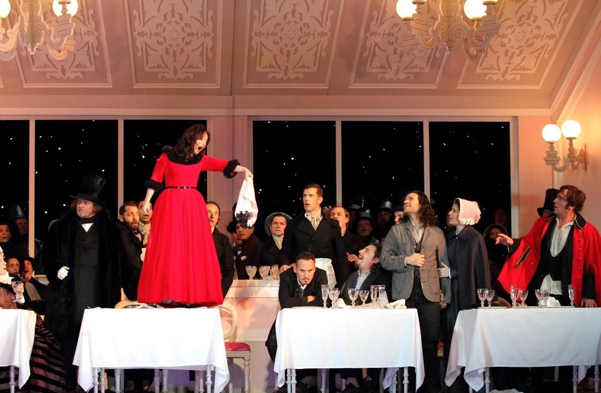 Simona Mihai as Musetta in La boheme, The Royal Opera. © ROH, 2017. Photographed by Catherine Ashmore.