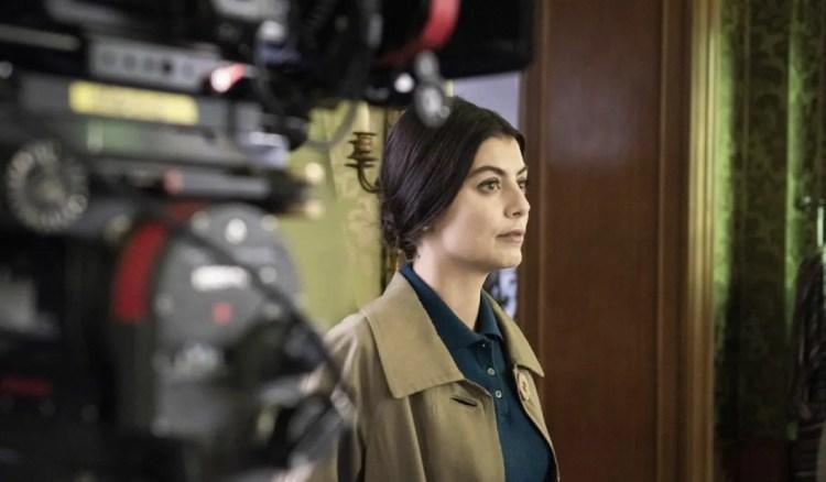 Alessandra Mastronardi filming Carla, photo RAI-Anele