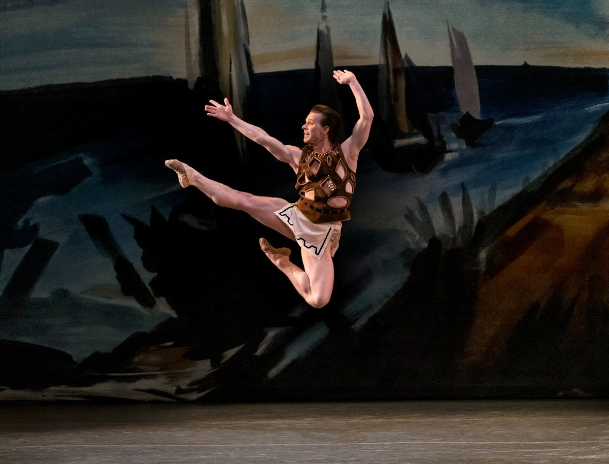 Daniel Ulbricht in George Balanchine's Prodigal Son, which will stream as part of NYCB's 2021 Digital Season. Photo by Paul Kolnik