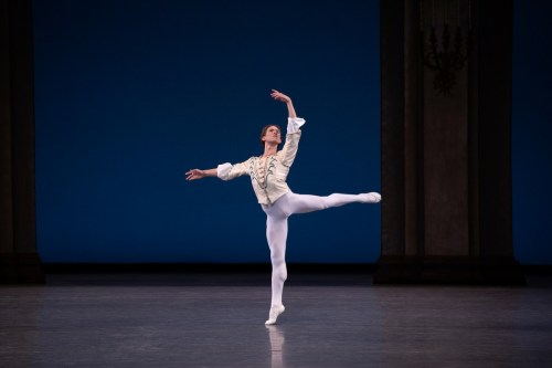 Joseph Gordon performing George Balanchine's Theme and Variations. Credit Erin Baiano
