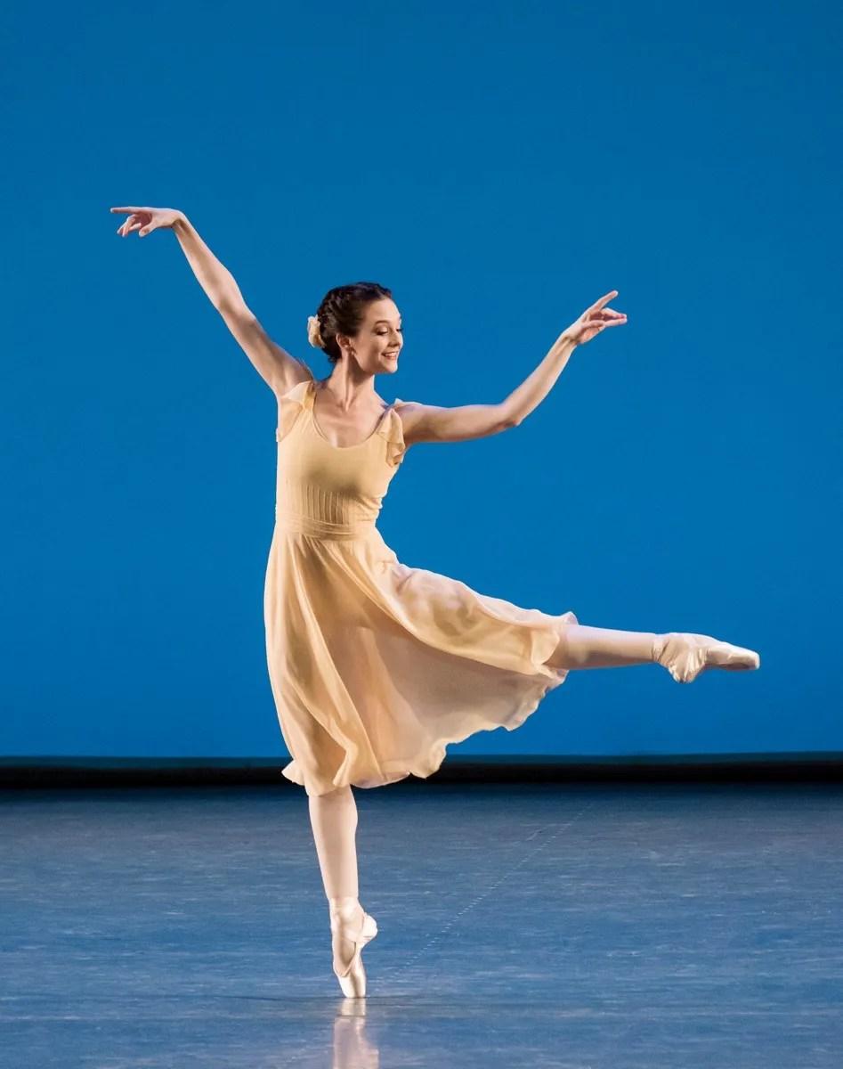 Lauren Lovette in Jerome Robbins' Dances at a Gathering. Photo credit Paul Kolnik