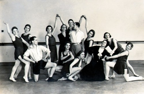 Ninette de Valois and Ursula Moreton with students of the Vic-Wells School at Sadler's Wells Theatre, 1931. Photographer not known. © The Royal Ballet School Special Collections