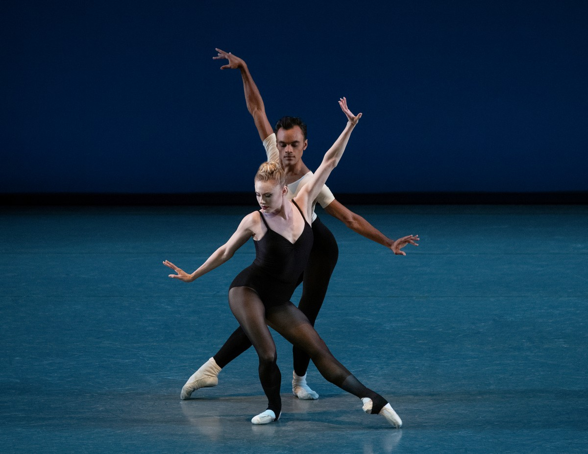 Sara Mearns and Taylor Stanley in George Balanchine's Stravinsky Violin Concerto. Photo credit Erin Baiano