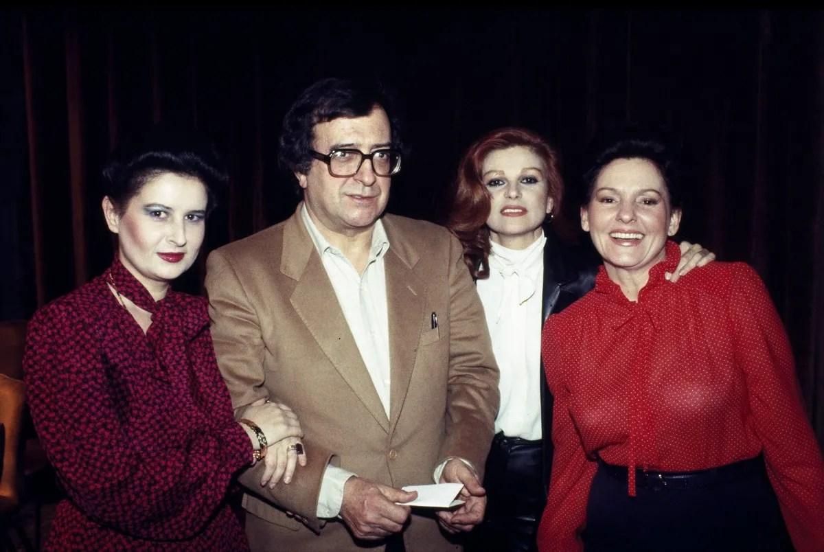 1982 La vera storia with Mariana Nicolesco, Milva, Luciano Berio, Alexandrina Milcheva, photo by Lelli e Masotti © Teatro alla Scala