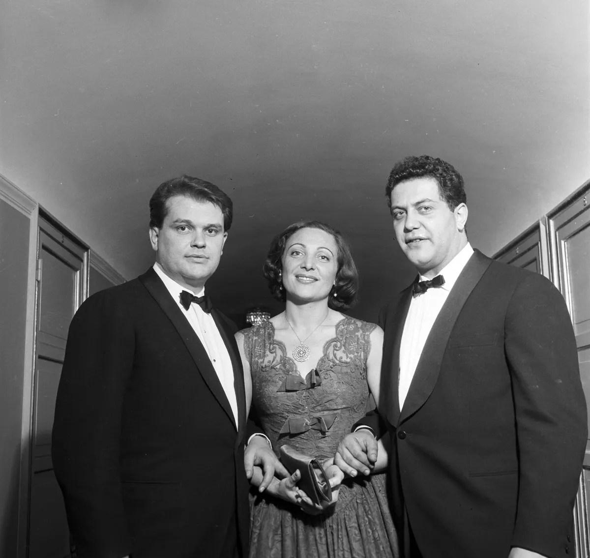 1956 Aida - Luciana Novaro with Piero Zuffi and Franco Enriquez, photo by Erio Piccagliani © Teatro alla Scala