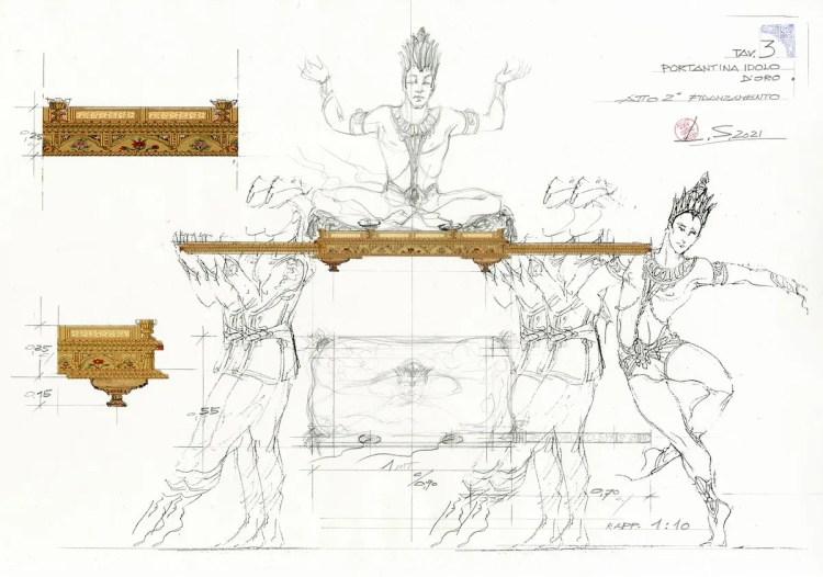 La bayadère - a design by Luisa Spinatelli