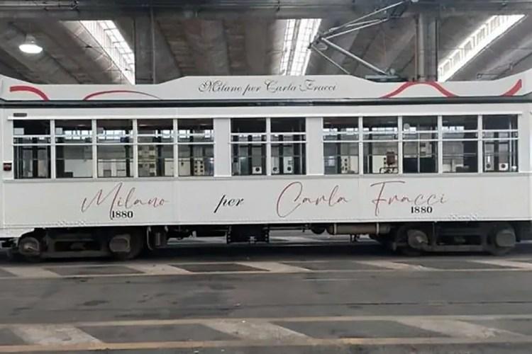 A tram for Carla Fracci
