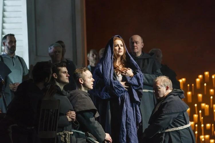 Anna Netrebko as Leonora in La forza del destino, The Royal Opera © 2019 ROH. Photograph by Bill Cooper