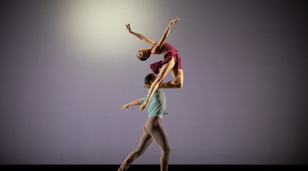 Mariko Sasaki and Lukas Bjørneboe Brændsrød in Anemoi, The Royal Ballet ©2021 ROH. Photograph by Alice Pennefather 2