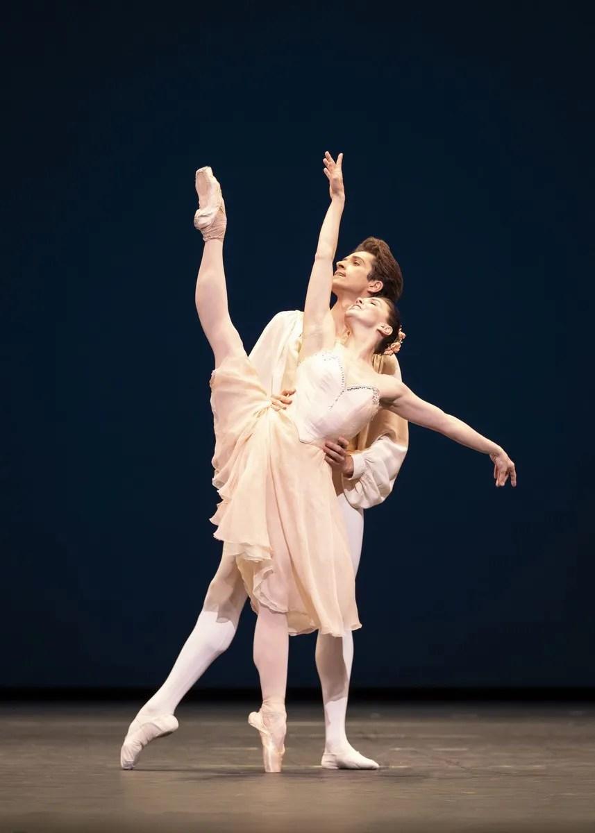 Natalia Osipova and Reece Clarke in Tchaikovsky-Pas-de-Deux photo by Helen Maybanks ROH