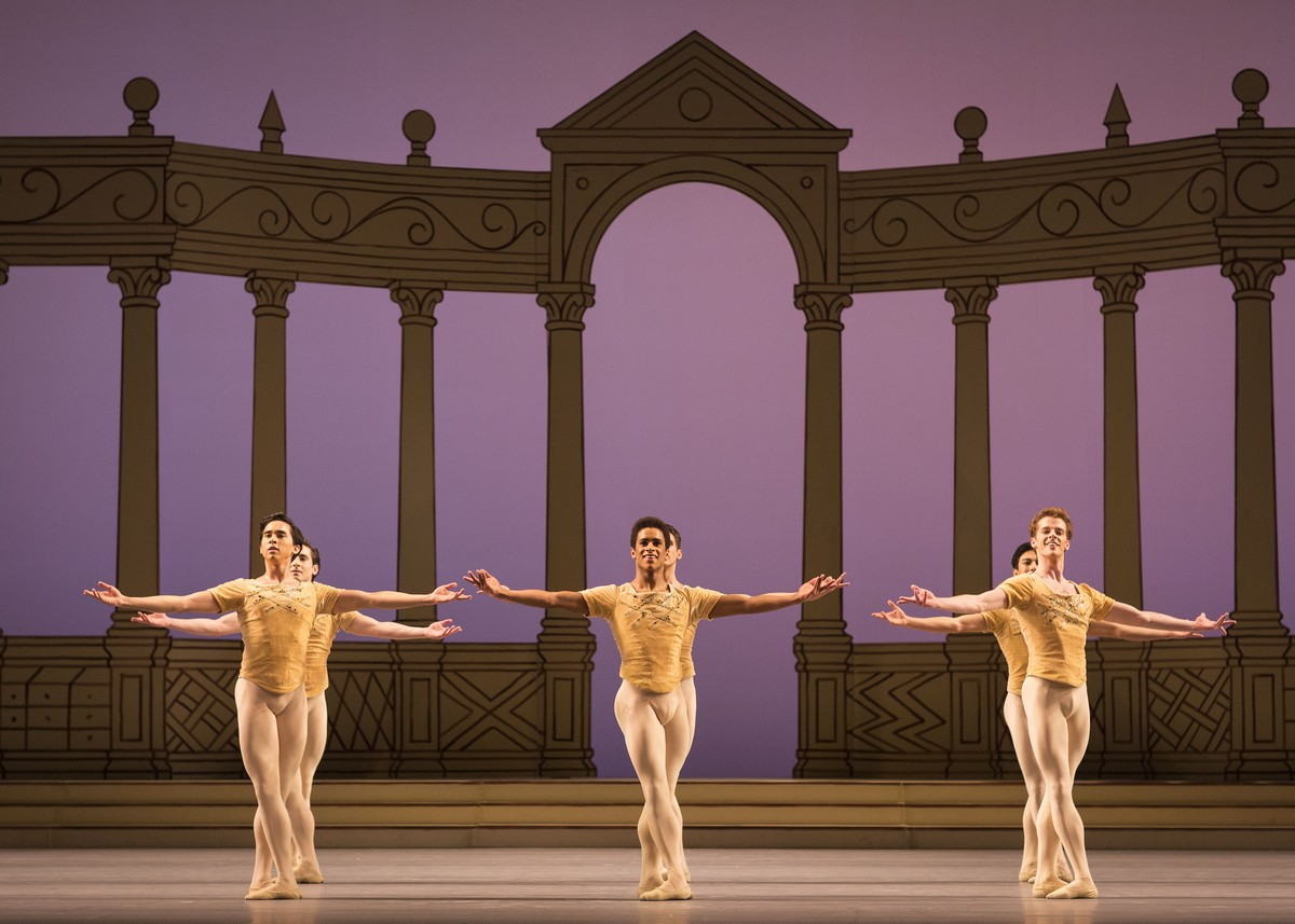 Production photo of Frederick Ashton's Rhapsody © ROH, 2016. Photograph by Helen Maybanks