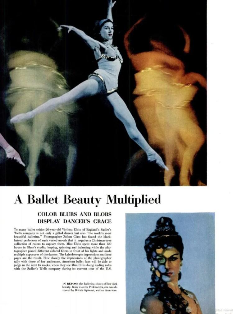 Violetta Elvin in Life Magazine, 1953
