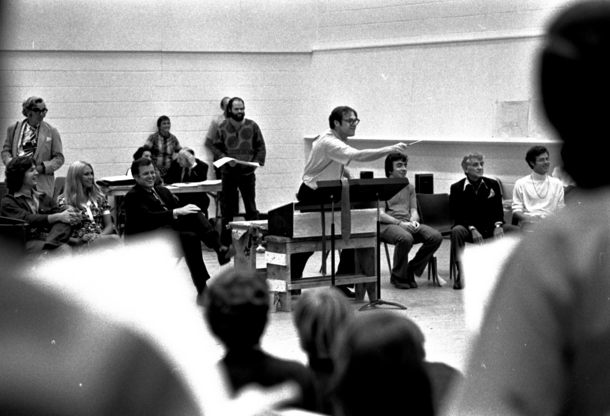 Bernstein MASS 1971 rehearsal 2 (by Fletcher Drake) Courtesy of the Kennedy Center Archives