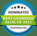 The Best Grammar Blog of 2011 nomiee