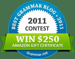 Best grammar blog 2011