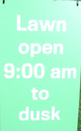 How do you open a lawn?