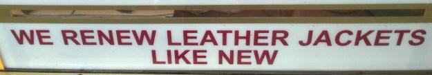 Darn. I like my leather renewed like old.