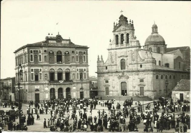 La Piazza di Grammichele ad inizio '900