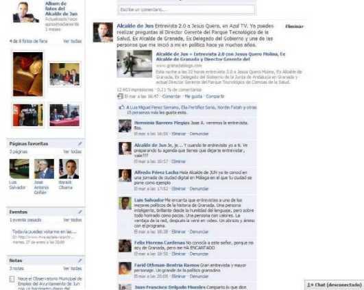 Facebook señala que la entrevista a Jesus Quero alcanza 12.603 visualizaciones