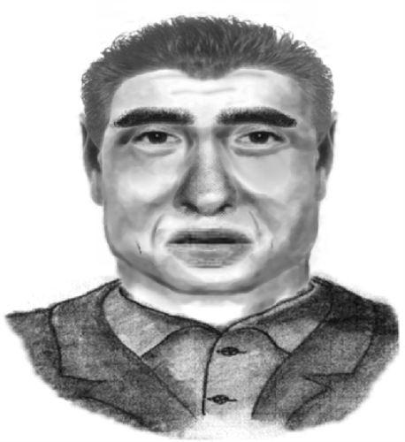 Retrato Robot presunto asesino Eva Blanco