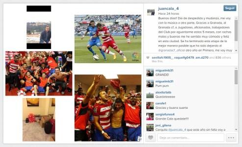 instagram adios Juan Cala