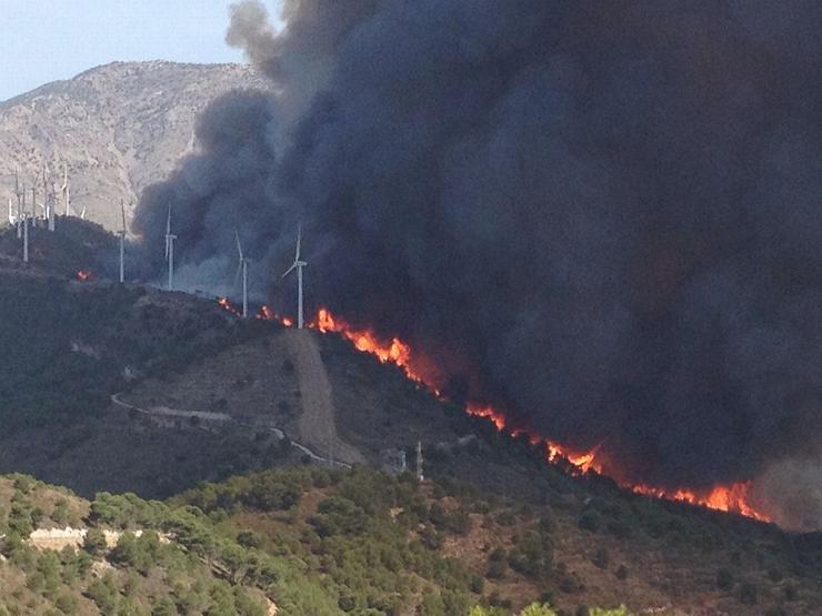 Incendio Sierra de lújar