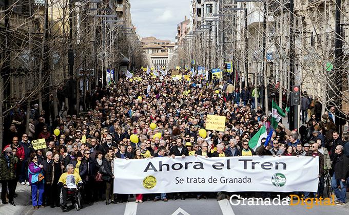 Manifestacion AVE Ferrocarril febrero 12017 marea amarilla (1)