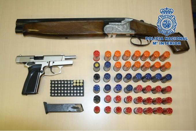 policía nacional armas de fuego