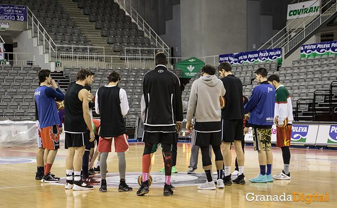 Entrenamiento Granada Baloncesto Coviran-4
