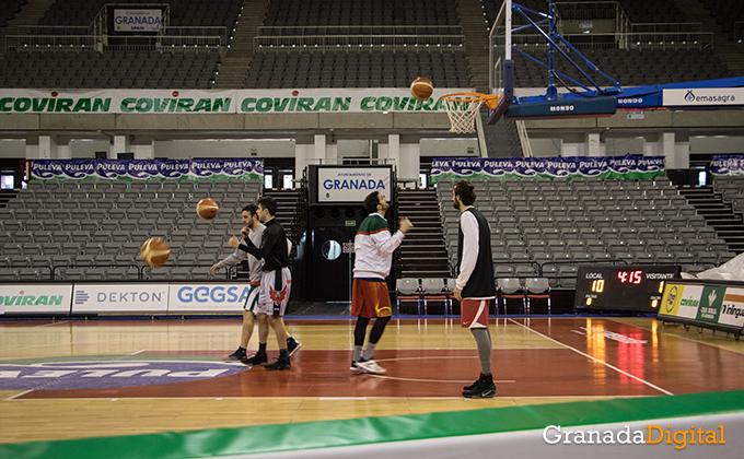 Entrenamiento Granada Baloncesto Coviran