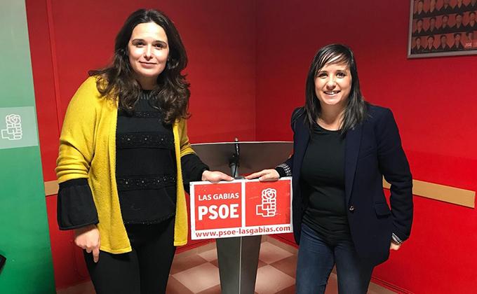 María Jesús Muñoz y Vanessa Polo PSOE Las Gabias
