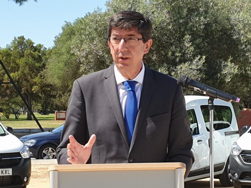 El vicepresidente de la Junta y líder andaluz de Ciudadanos (Cs), Juan Marín
