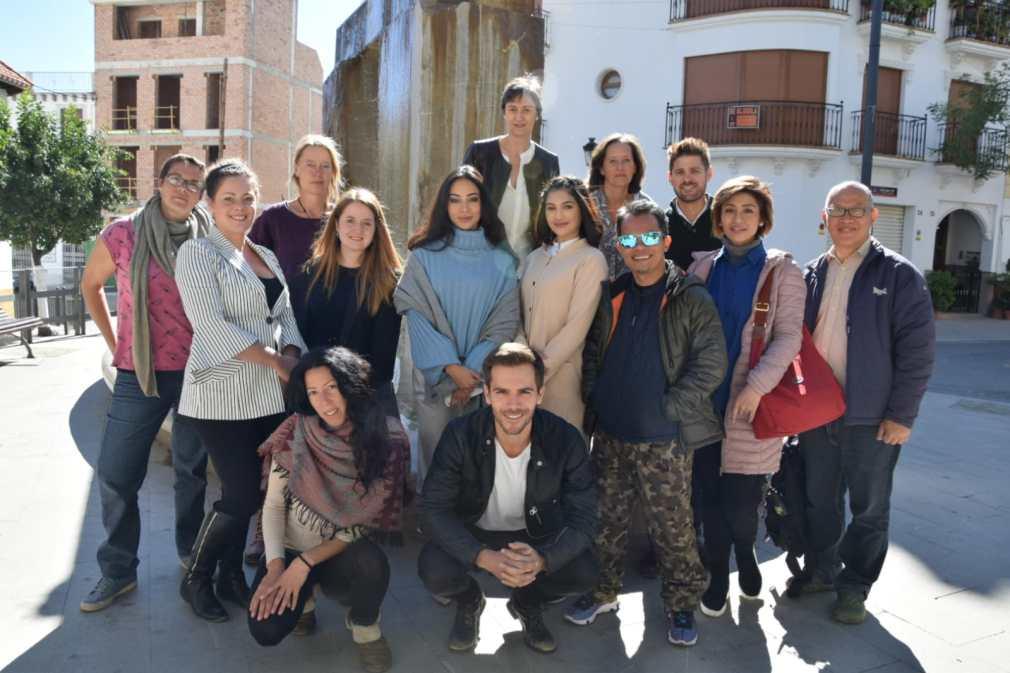 rodaje Postales desde la Alhambra en Lanjarón