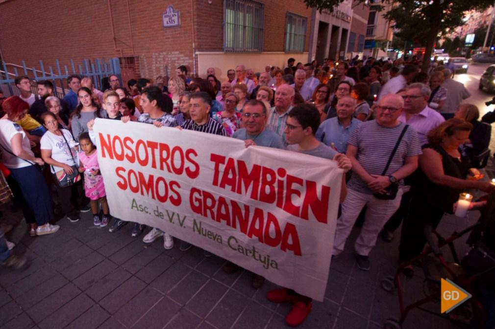 protesta por los cortes de luz en la zona norte de Granada