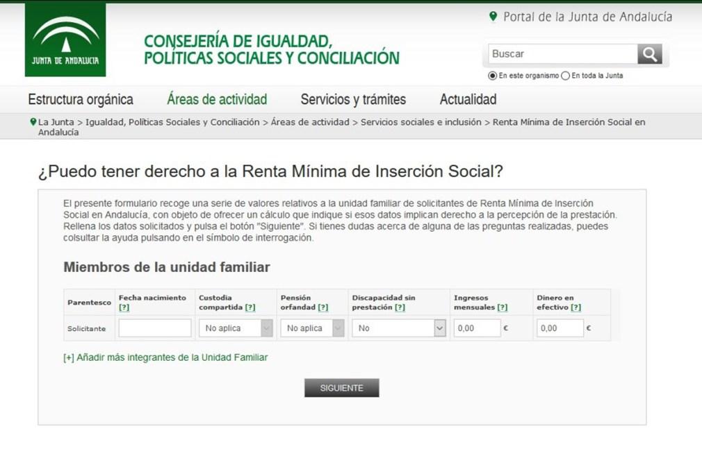 El simulador de la Renta Mínima registra más de 56.000 consultas desde su puesta en marcha en el mes de julio pasado