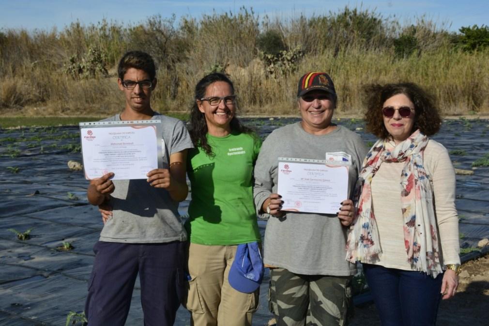 Granada.- Un programa de agricultura ecológica en Motril forma a 18 personas y logra una tasa de inserción del 61%
