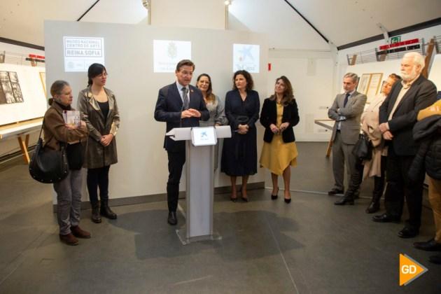 El alcalde de Granada en la presentación de la exposición 'Picasso. El viaje del Guernica' | Foto: Helena López
