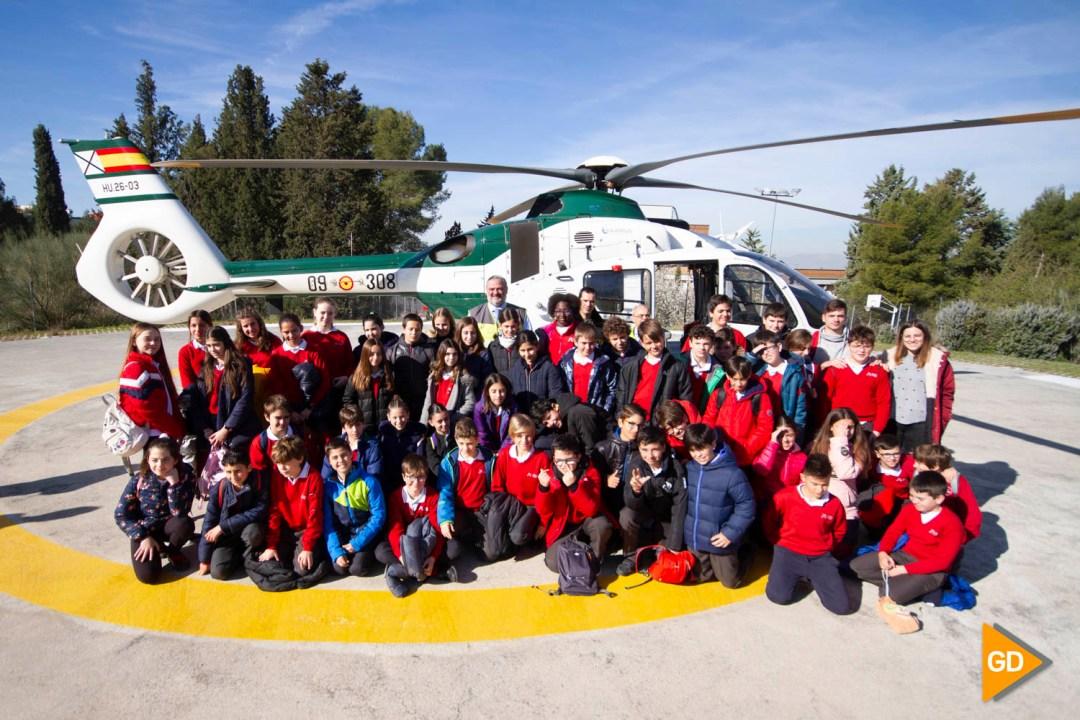 Visita de colegio a la sede del 112 en Granada