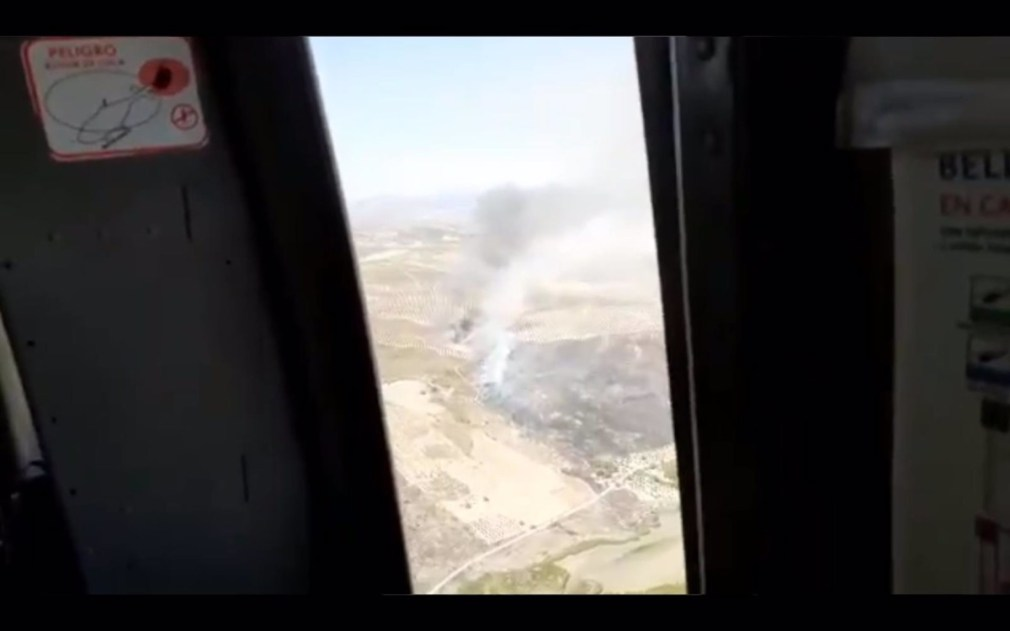 Granada.- Incendios.- Extinguido el incendio forestal de Alhama, antes Arenas del Rey, tras calcinar 27 hectáreas