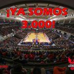 Los abonados respaldan al Coviran Granada con una cifra de 3.000 plazas
