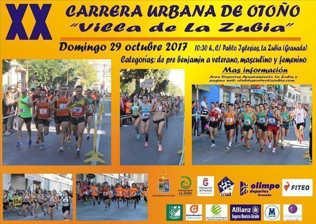 """Todo en marcha para la Carrera Urbana de Otoño """"Villa de La Zubia"""""""