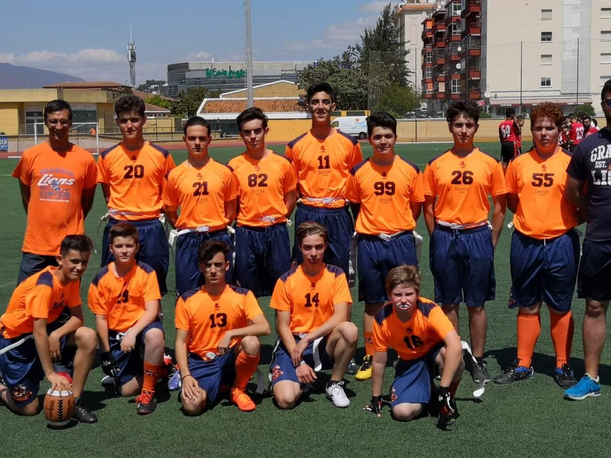 Los Maracena Granada Lions, campeones de Andalucía Sub 17 de football flag