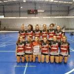 Nevadis Albolote CV'16 salva un punto en su choque de voleibol nacional
