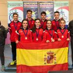 España, campeona de la Nations Future Cup 2019 de bádminton, con granadinos en sus componentes