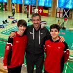 Rubén García y Daniel Franco del Club Bádminton Granada presentes en el europeo Sub17
