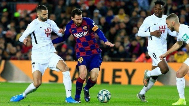 El gran trabajo colectivo del Granada CF roto por la injusta expulsión de Germán en el Camp Nou